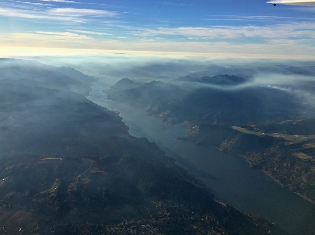 Smoke at 8K from the Eagle Creek fire by P Woolery